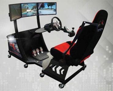 Cockpit Car Driving Simulator for Traffic Safety & Defensive